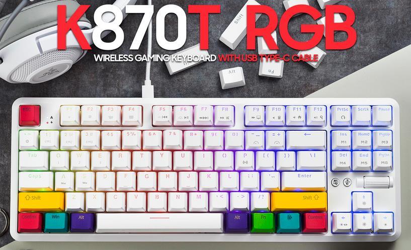 AJAZZ RGB Wireless Mechanical Keyboard K870T