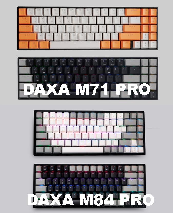 DAXA M71 Pro RGB and Daxa M84 Pro RGB