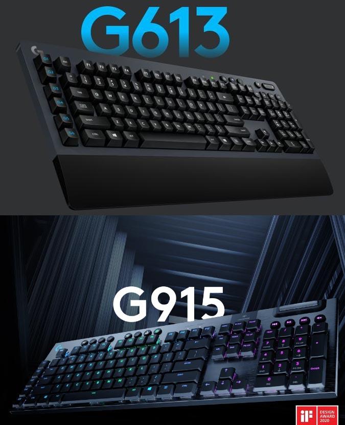 Logitech G613 and G915