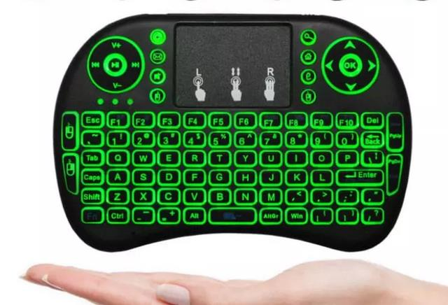 Rii Mini i8 Keyboard Wireless Touchpad RC with 3 COLOR Backlight